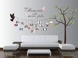 Extra Large Family Tree And Bird Wall Decal For Photos